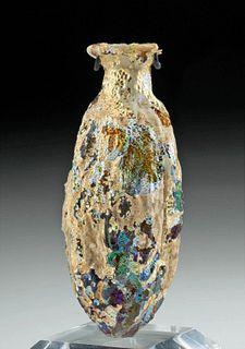 Roman Sidonian Glass Date Vessel w/ Iridescence