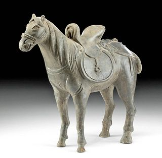 Chinese Yuan Dynasty Pottery Standing Horse w/ TL