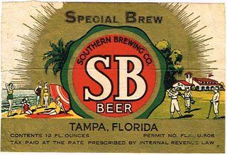 1934 SB Special Brew Beer 12oz ES27-25 - Tampa, Florida
