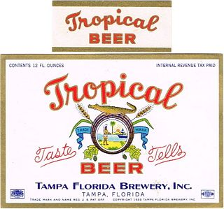1940 Tropical Beer 12oz ES27-17 - Tampa, Florida