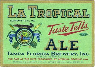 1935 La Tropical Ale 12oz ES27-07 - Tampa, Florida