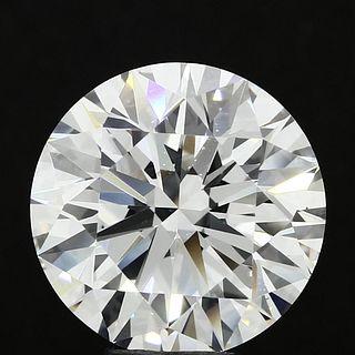 7.41 ct., D/VS1, Round cut diamond, unmounted, MGS-137