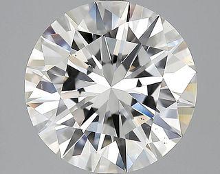 5.04 ct., G/VS2, Round cut diamond, unmounted, MGS-196