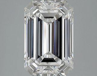 5.25 ct., D/VVS2, Emerald cut diamond, unmounted, GYM-146