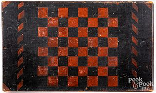 Painted gameboard, late 19th c.