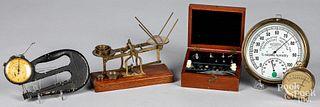Scales, scientific instruments, etc.