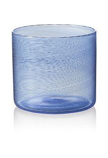 """Rocks"" drinking glass (blue)"