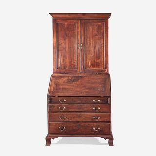 A Chippendale carved mahogany secretary bookcase Philadelphia, PA, circa 1780
