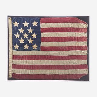 A 13-Star American National Flag 1860's-1870's
