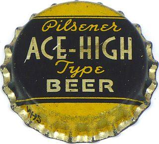 1935 Ace High Beer 113mm long Bottle Cap Grand Rapids, Michigan