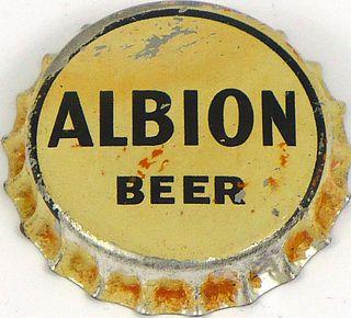 1937 Albion Beer 113mm long Bottle Cap Los Angeles, California