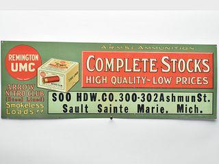 Remington UMC metal advertising sign.