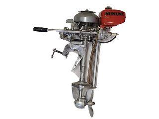 Vintage boat motor, Made in USA, Neptune.