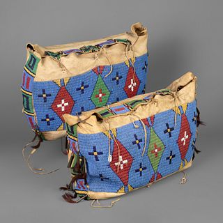 Sioux, Pair of Beaded Possible Bags, ca. 1860-1870