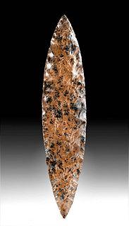 Colima Mahogany Obsidian Ceremonial Blade