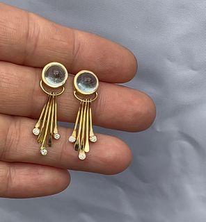 Aquamarine Kinetic Earrings