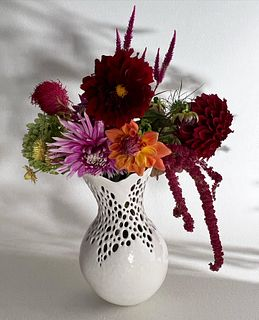 Pierced open Neck Vase large,