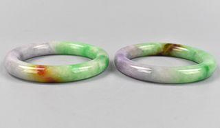 2 Chinese Jadeite Bracelets/ Bangles