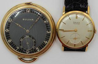 JEWELRY. Bulova Pocket Watch and a Gruen Watch.
