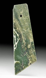 Huge Chinese Neolithic Nephrite Jade Ritualistic Blade