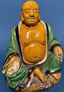 Chinese Pottery Buddha
