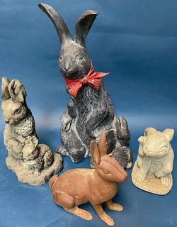 Four Garden Rabbit figures