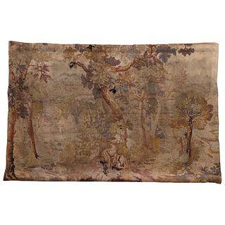 Tapiz Verdure. Francia, finales del SXVIII. Elaborado a mano con fibras de lana y algodón. 150 x 230 cm.
