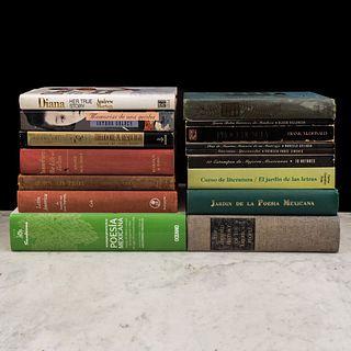 Libros sobre literatura y poesía. Jardín de la Poesía Mexicana / Curso de Literatura y Jardín de las Letras. Piezas: 16.