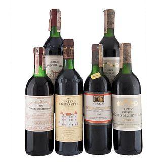 Lote de Vinos Tintos de Francia. Chateau Desbarats. Bordeaux Superieur. En presentaciones de 750 ml. Total de piezas: 6.