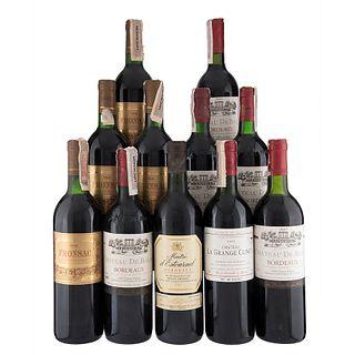 Lote de Vinos Tintos de Francia. Fronsac. Maitre d' Estournel. En presentaciones de 750 ml. Total de piezas: 11.