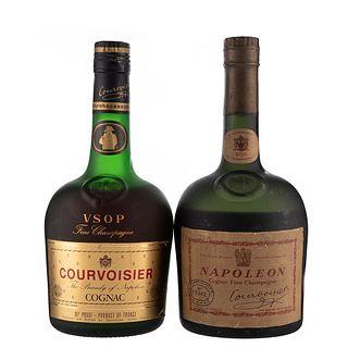 Courvoisier. V.S.O.P y Napoleon. Cognac. France. Piezas: 2. En presentación de 750 ml.