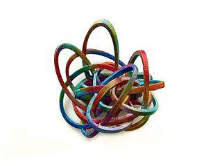 Multicolor Rubber Band Brooch