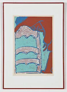 George Segal (American, 1924-2000) Serigraph