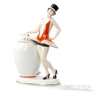 Art Deco Chorus Girl Perfume Lamp