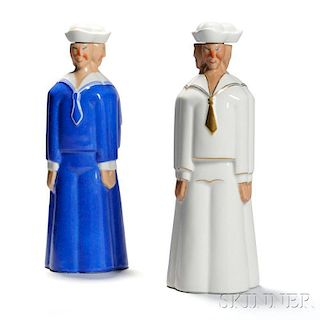 Two Robj Sailor Decanters