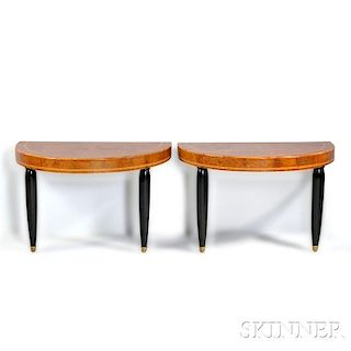 Pair of Modified Demilune Tables