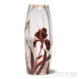 Denis Cameo Glass Vase