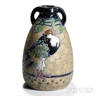 Large Decorated Amphora Pottery Vase