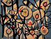 Large Genaro de Carvalho Abstract Tapestry