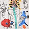 Large Keith Haring APOCALYPSE X Silkscreen, Signed