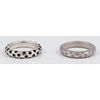 """Susan Beale """"Dotty"""" Bands in Sterling Silver"""