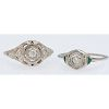 18 Karat White Gold Art Deco Diamond Rings