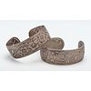 S. Kirk and Son Sterling Cuff Bracelets