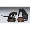 Ignatius Taschner Figural Bird and Figural Monkey Cigar Cutters