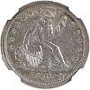 U.S. 1838 NO MOTTO SEATED LIBERTY 25C COIN