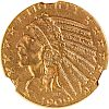 U.S. 1909-O INDIAN HEAD $5 GOLD COIN