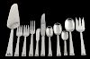 Allan Adler sterling silver flatware service, Chinese Key pattern