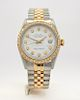 Rolex Oyster Perpetual Datejust men's watch with diamond dial and bezel
