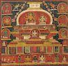 Nepalese Stupa Thangka