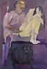 "Krishen Khanna (Indian, 1925) ""The Humiliation of Draupadi"""